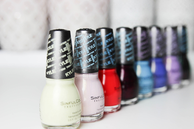 vernis ongles kylie jenner x sinfulcolors des mats petit prix peek a booo - Vernis Sinful Colors